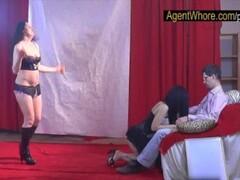 Shy nerd gets wild striptease from two czech girls Thumb