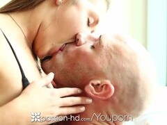 Passion-HD - Abby Cross gives man threesome surprise Thumb