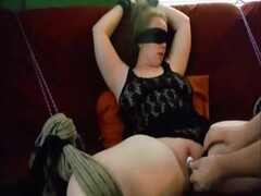 My tied slave Chrissy has permission to cum Thumb