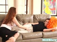 Cocksucking stepmom giving hot blowjob Thumb