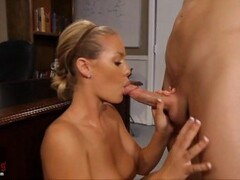 Busty blonde Nicole Aniston rides Cock Thumb