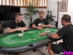 Poker game turns to ebony gangbang Thumb