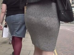 See through grey skirt and thong Thumb