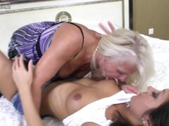 Hot old and young lesbian couple get down Thumb