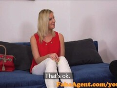 FakeAgent Horny financial assistant sucks and fucks in casting Thumb