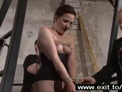 Slave Caroline whipped by master and mistress Thumb