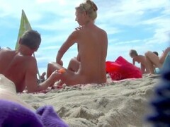 Beautiful naked women spied on at Nude beach Thumb