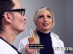 HITZEFREI Dr Mia Blow masturbates in the office Thumb