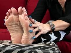 Nikki Ashton - Stroke That Dick For My Soles - Feet JOI Thumb