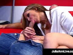 Busty Hot Teacher Julia Ann Fucks Her Hard Cock Pupil Until He Cums! Thumb