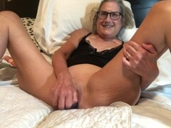 HOT Milf Takes 9 Inch Dildo Mature Granny 60 year old Thumb