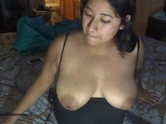 Self sucking my milky lactating tits let down milk dripping Thumb