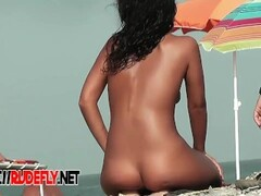 Nude beach hidden cam shoots the sexiest tan oiled bodies Thumb