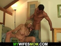 banging old girlfriends blonde granny on the table Thumb