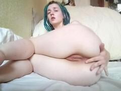 Orgasmic masturbation - pussy and ass fingering Thumb