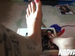 Giving My Dildo A FootJob-NadyaEve Thumb
