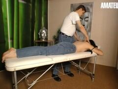 AmateurEuro - Horny German MILF Seduces and Fucks Young Massage Guy Thumb