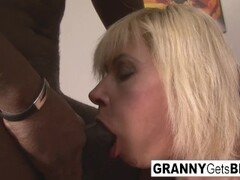Dirty blonde mature gets her ass filled with black cock Thumb