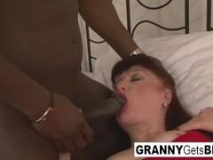 Euro granny and the big black cock Thumb