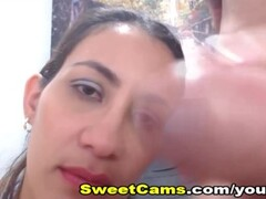 Dreamy Colombian Girlfriend Gets Cum Shot On Her Mouth Thumb