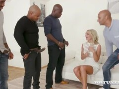 Private.com Presents Hot Blonde Victoria Pure Wrecked By 4 Big Black Cocks! Thumb