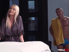 YOUMIXPORN Interactive - Extreme anal massage threesome with sweet Ivana Sugar and busty Blonde Rachele Richey Thumb