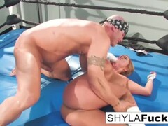 Sexy Shyla Stylez gets some lessons on MMA training but then gives a lesson Thumb