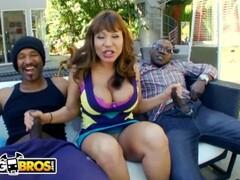 BANGBROS - Interracial Big Black Cock Threesome For Thicc Cougar Ava Devine Thumb