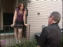bronte is spanked by busty milf for disrespect to neighbor Thumb