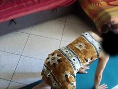 Spy Cam at Home 02: italian wife does yoga and then has an orgasm Thumb