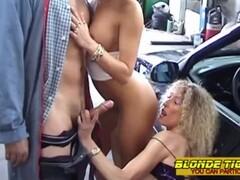 2 hot milfs in sexshop - amateur compilation Thumb