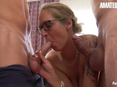 AmateurEuro - German Amateurs Tag Team Busty Hot Mom Thumb