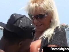 Big Black Cock Rome Major Bangs Ole' Granny Mandie McGraw On Dock, Lakeside Thumb