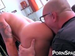 Naughty Lily Fatale enjoys an anal ride on hard cock Thumb