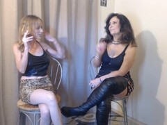 2 HOT MILFS smoking with dirtytalk Thumb