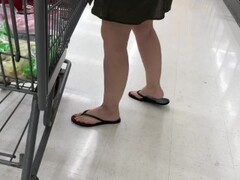 Voyeur Upskirt No Panties Hot Blonde Walmart Shopping Thumb