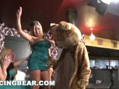 DANCING BEAR - Big Dick Male Strippers Getting Sucked Off By Horny Women Thumb