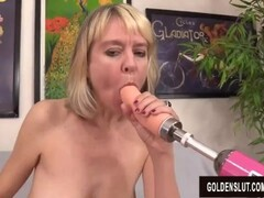 Horny British Grandma Jamie Foster Gets Fucked by a Machine Thumb