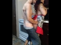 Surprised MILF gets kitchen fuck and cumshot to the face! MUST WATCH!! Thumb