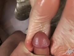 Nikki Ashton - 30 Loads Of Cum On My Feet - POV Footjob Compilation Thumb