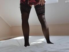 NEW porn girl ride big dildo with hairy pussy - Mysti Life Thumb