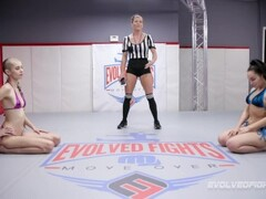 lesbian arm wrestling with Sexy porn stars Thumb