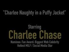Cock Craved Cougar Charlee Chase Fucks Husband In Puffy Jacket! Thumb