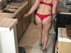 Xxx cleaning lady fucked in the kitchen - Matthias Christ Thumb