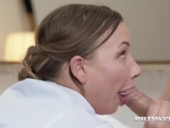 Private.com Presents - Hot Sexy Maid Taylor Sands DPd By 2 Lucky Hard Cocks Thumb