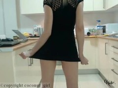 Eritic Blonde Kate Teasing In The Kitchen With Hot Dress Thumb