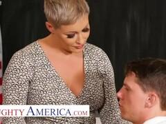 Naughty America - Prof. Conner fucks her virgin student Thumb