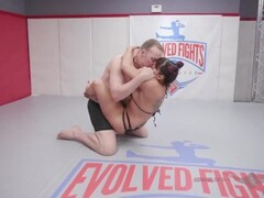 jasmeen LaFleur hard nude mixed wrestling vs newcomer for sex Thumb
