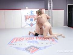 Big tits, redhead fights lesbian in sex fight wreslting match trailer Thumb