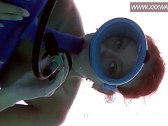 Huge dildo face-fucking underwater Thumb